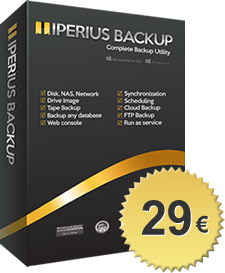 Iperius Backup Desktop - Backup software Windows 8 / Windows 10 / Windows 7