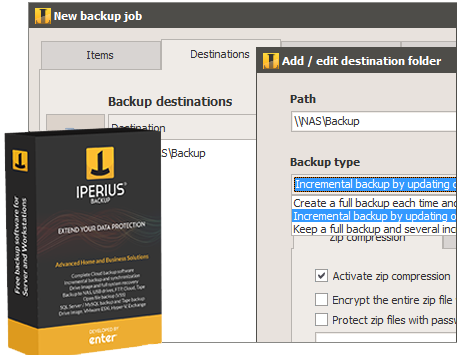 Iperius Backup Free - Backup software freeware
